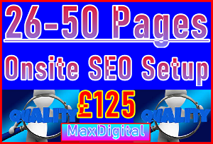 I will Setup Maximum 50 Pages with Onsite SEO Imortance
