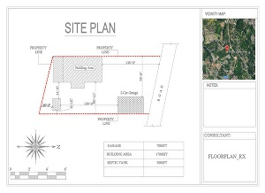 I will make site plan, plot plan,site layout for city permit