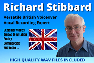I will provide a voiceover in my educated British English accent