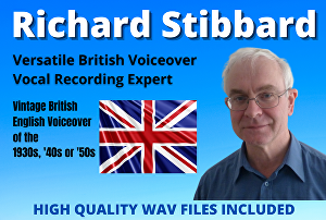 I will provide a voice over in a vintage British accent