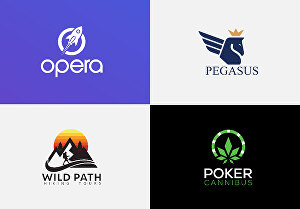 I will design modern minimalist 3d icon logo for business and company
