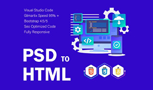 I will convert any XD, PSD, Sketch, Figma file into Html responsive