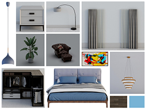 I will create interior design mood board ,price listing ,3D plan and layout
