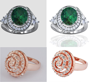 I will do jewelry retouch and high glossy polished finish 7 images