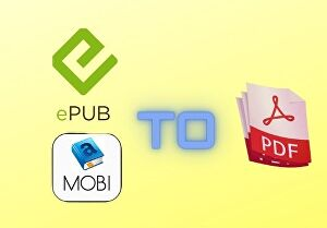 I will convert your epub or mobi book to PDF