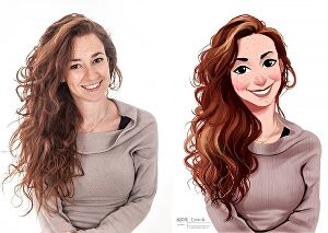 I will draw your photo into cartoon art in 24 hour