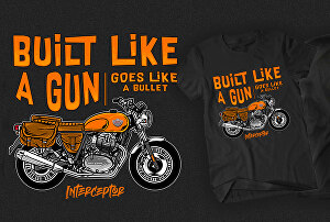 I will create motorcycle design with retro style