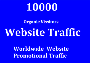 I will Provide 10000 Website Promotional Traffic visitors, Safe and Secure