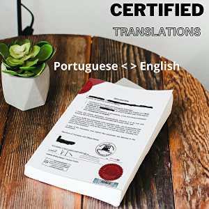 I will complete a certified translation from English to Portuguese or vice-versa, up to 500 words