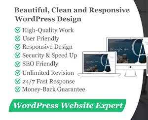 I will customize any wordpress site, build website from scratch and do any other wordpress relate