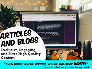 I will write content like articles, blog posts, SEO content, and more