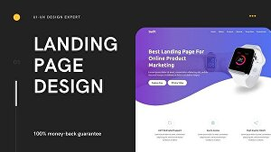 I will create an eye-catchy attractive landing page for your website
