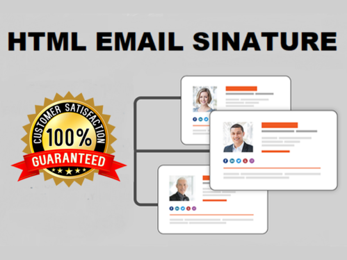 convert your email signature design to HTML for Outlook, Gmail, and apple
