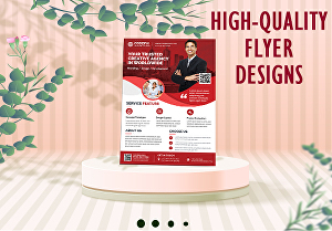 I will do eye-catching business flyer