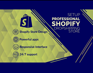I will Build Profitable Shopify Dropshipping Store,Shopify Website Design,Shopify Logo