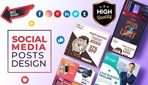 I will design attractive social media posts and advertising