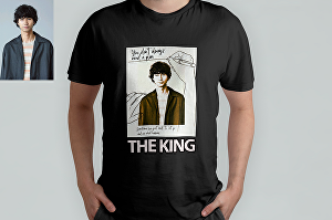 I will design a tshirt with your face cartoon character