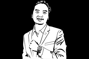 I will draw black and white styles for your face