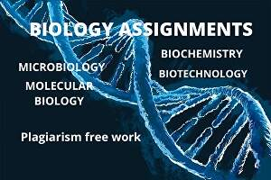 I will write assignments and essays about Biology