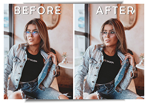 I will remove glare from glasses perfectly