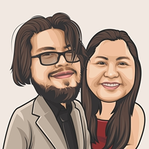 I will draw caricature for couple and family