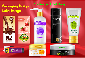 I will create packaging design and label design for your product