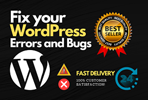 I will fix any wordpress error, bug on your website and blog