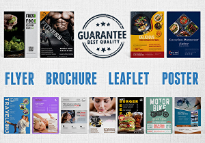 I will Design Flyer, Brochure, Poster, Sign Board, Banner for your business