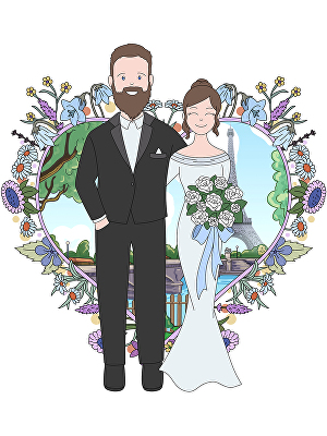I will draw a colorful personalized digital illustration from photo