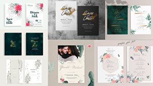 I will design great looking invitation for your wedding