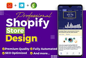 I will Design a High Converting Shopify Store or Shopify Landing Page