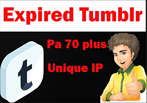 I will Provide You 70 expired tumblr, blogs pa 70 plus unique