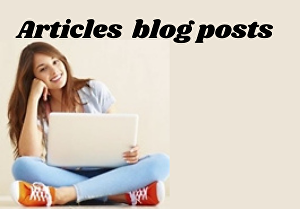 I will write SEO friendly articles and blog posts