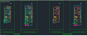 I will draw your architectural floor plan in auto cad 2d