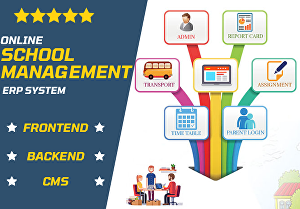 I will provide online school management ERP system with custom CMS in PHP