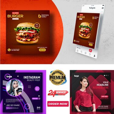 design social media post banners and ads