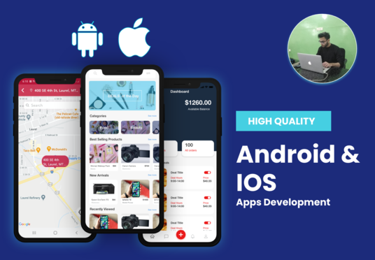develop professional android and ios app for you