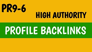 I will build 50 High PR Authority Profile Backlink for boost your SEO