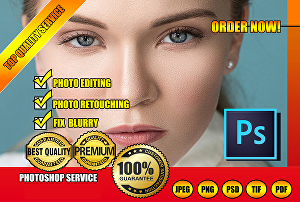 I will do natural looking retouching and photo editing in photoshop