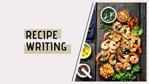 I will your professional recipe writer