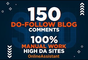 I will build 150 high forum dofollow blog comments backlinks