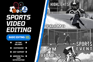 I will edit your sports match, highlights videos, Sports Promo, Fitness Video in 4k HD