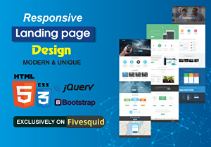 I will create responsive modern landing page