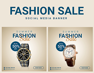 I will Design Sale Banner and Social Media Posts