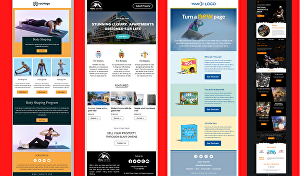 I will design a professional and responsive HTML email template or newsletter