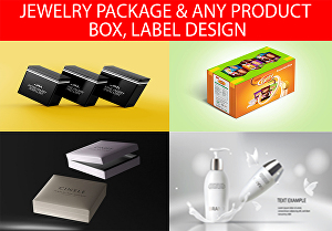 I will design product package and label, jewelry box, bottle label, food package, or any item pac