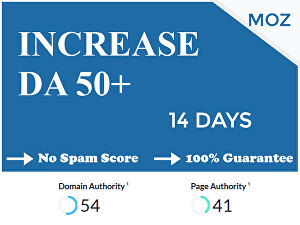 I will increase domain authority moz da up to 50 in 14 days