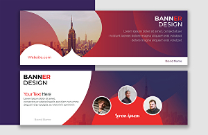 I will design attractive modern web banners and ads in 24 hours