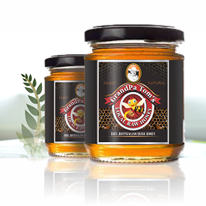 I will create Honey Label for your brand