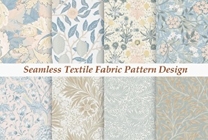 I will illustrate and make print ready seamless textile fabric pattern design